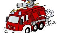 消防车货车灭火3汽车总动员警车挖土机赛车挖掘机工作视频 拖挂车赛车总动员闪电麦昆亲子益智游戏
