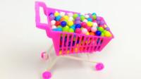 新购物车超市买彩色糖果 芭比娃娃粉红猪小妹猪猪侠超级飞侠海底小纵队