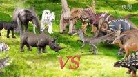 [咯咯玩具] 韓國玩具 - [第2季] 侏罗纪世界 1集 : 犀牛 vs 伶盗龙属