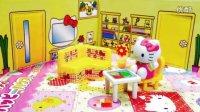 凯蒂猫房子迷你房间套装玩具 哆啦A梦任意门玩具