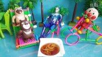 日本食玩营养汤面 奥特曼熊出没 过家家游戏