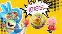 白白侠玩具秀:粉红猪小妹【奇趣蛋】 VS 剪刀石头布糖果【日本食玩】