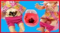 孩之宝智能娃娃大便,培乐多做饭小猪佩奇芭比娃娃朵拉洗澡。宝宝大便训练亲子游戏