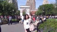 美国纽约华盛顿广场公园 Kat & Sid go to Washington Square Park!!