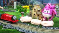 【奇趣箱】詹姆士小火车和超级飞侠小爱一起拆橡皮泥第二集,猜猜他们拆出了什么好玩的玩具。