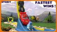 【车车王国】神龙赛道~车车们的比赛耶 赛车总动员 闪电麦昆 板牙 动画 中文