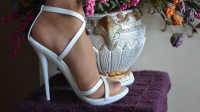 高跟 HOME 伊人(16-41)12厘米白色高跟凉鞋
