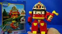变形警车珀利 会变形的消防车罗伊 迪士尼 玩具 变形机器人