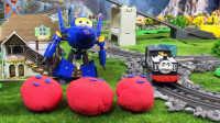【奇趣箱】托马斯小火车的好朋友萨姆森和超级飞侠酷飞一起拆橡皮泥,快来看看吧(第二集)