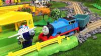【奇趣箱】超级飞侠包警长的警车不见了,托马斯小火车帮忙找回来,谢谢托马斯!