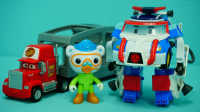 变形警车珀利 珀利的太空服 迪士尼 玩具 变形机器人