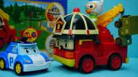 变形警车珀利 遥控版罗伊消防车 迪士尼玩具 海底小纵队