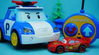 变形警车珀利 遥控版珀利 迪士尼玩具 赛车总动员