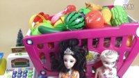 熊出没超市爱莎公主白雪公主过家家去光头强的超市买东西玩具解说扮家家游戏