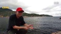 海钓矶钓:沉底钓法钓到新月锦鱼