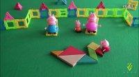 粉红猪小妹七巧板拼图 儿歌鹅鹅鹅 佩佩猪 乔治 爸爸猪 妈妈猪一家拼图游戏 七巧板大白鹅拼图 木制玩具