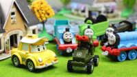 『奇趣箱』变形警车珀利的好朋友 出租车凯普 托马斯小火车 拆水果橡皮泥 拆出了军用战车