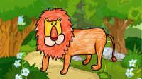 少儿简笔画:森林之王狮子