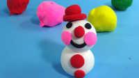 小丑雪人彩泥橡皮泥制作 幼儿益智手工儿童玩具过家家超轻粘土亲子游戏