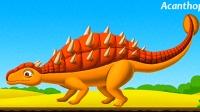 侏罗纪公园 第2期 恐龙化石拼接 盗龙 克柔龙 棘甲龙 恐龙世界 科普小游戏