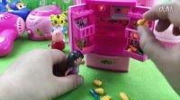 小猪佩奇的新冰箱 可爱巧虎岛 迷你烹饪食玩 过家家厨房玩具