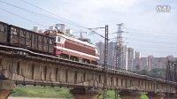 [火车]SS6B牵引货物 通过广铁沙段 浏阳河下行
