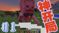 【辣鸡口罩原版生存】1#一样的开局!不一样的结果!-我的世界-Minecraft