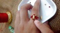 水晶串珠戒指 手工串珠转运珠戒指的手工编织方法教法教程教学视频