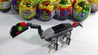 侏罗纪史前恐龙长颈龙怪兽奇趣蛋扭蛋 拆蛋惊喜乐高3D积木玩具 儿童益智玩具过家家视频健达奇趣蛋亲子游戏