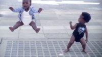 超萌可爱的怡云Evian宝宝 镜子前的街舞萌宝 矿泉水创意广告 evian baby&me 2013