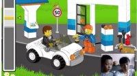 乐高城市#我的世界角色扮演乐高加油站:乐高积木玩具游戏动画