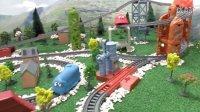 托马斯小火车 托马斯藏在培乐多后面 培西 詹姆士 板牙 趣味玩具视频