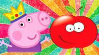 粉红猪乔治摘大红果
