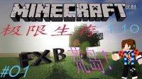 [FXB]Minecraft 我的世界FXB的1.10双人服务器极限生存EP.01 WTF! 荒岛求生?