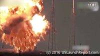 美国猎鹰9号火箭地面燃料加注时爆炸全过程