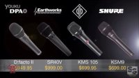 Neumann KMS 105 vs Shure KSM9 vs DPA D-facto II vs Earthworks SR40V Vocal Mic