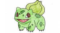 神奇宝贝:妙蛙种子简笔画 儿童学画画精灵宝可梦宠物小精灵