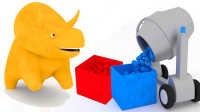 恐龙戴诺 第16集 和水泥搅拌机一起学习颜色