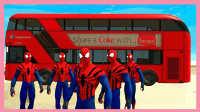 美国队长3 蜘蛛侠公交车逛城镇!托马斯和他的朋友们 小猪佩奇 健达惊喜奇趣蛋 粉红猪小妹 玩具试玩
