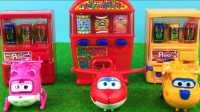 超级飞侠的美食糖果机玩具游戏和乐迪小爱多多买奇趣蛋亲子过家家故事