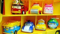 变形警车珀利 校车斯库比 迪士尼 玩具 变形机器人