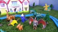 乔治&托马斯小火车 游览恐龙公园 小猪佩奇 托马斯和他的朋友们 恐龙化石 Peppa pig 粉红猪小妹 侏罗纪公园
