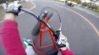 GoPro第一人称视角记录DIY漂移三轮卡丁车双车追漂练习
