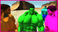 绿巨人的彩虹兄弟 赛车绝技大比拼!美国队长3 蜘蛛侠 小猪佩奇 超级英雄 动画
