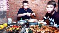斗鱼老王直播和表弟吃烧烤 老王熊熊美食直播视频