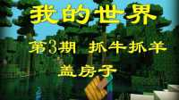 【小边儿】我的世界1.8.1第3期【抓牛抓羊盖房子】