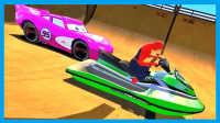 蜘蛛侠超级赛车飞艇 绿色赛车总动员!小猪佩奇 美国队长3 漫威英雄 动画