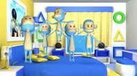 《火火兔学前英语》大班第7课 five little monkeys