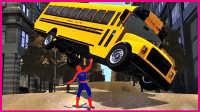 蜘蛛侠挑战大巴车,超多大巴障碍挡不住爆狂闯关!