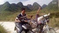 吴宝志广西搞笑视频【第一次骑摩托】德保仔